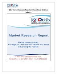 2017 Market Research Report on Global Smart Watches Industry.pdf