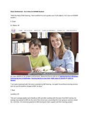Client Testimonials - He Is Now An HONOR Student.docx