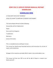 SONY DSC F1 SERVICE REPAIR MANUAL INSTANT DOWNLOAD.pdf