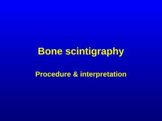 bone scintigraphy radiology.ppt