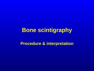 bone scintigraphy radiology.ppt