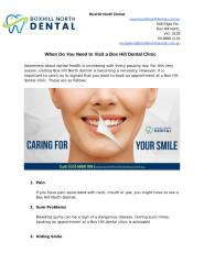 When Do You Need to Visit a Box Hill Dental Clinic.docx