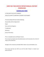 SONY DSC F505 SERVICE REPAIR MANUAL INSTANT DOWNLOAD.pdf