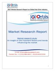2017 Market Research Report on Global Hair Drier Industry.pdf