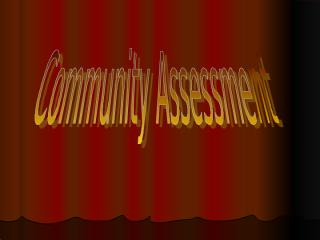 community assessment.ppt