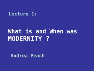 What is Modernity.ppt